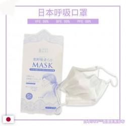 日本微纖維無紡布呼吸口罩 (5盒25隻)