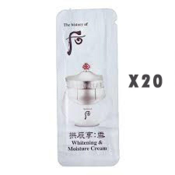 (后) 拱辰享雪美白保濕面霜 (sample x 20)