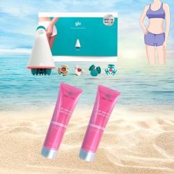 GLO 西班牙強效爆脂機+溶脂緊緻減肥瑜珈霜X2