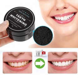 100% Natural Teeth Whitening 活性炭美白牙粉