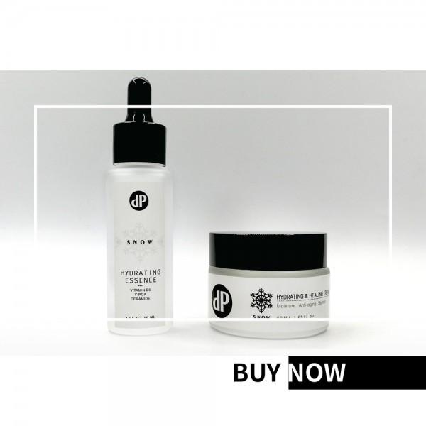 dP Cosmetic Snow 保濕精華+水凝修護霜 套裝