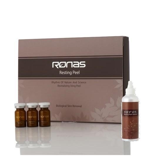 RONAS Resting Peel Powder 海藻矽針 1.3g*10 連200ML修復液