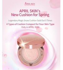 APRIL SKIN MAGIC SNOW CUSHION PINK 粉紅盒版調色氣墊粉 春夏透薄補濕版